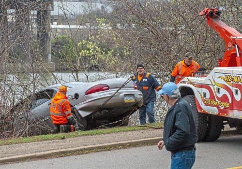 Car nearly goes for a swim in the Mon in the South Side