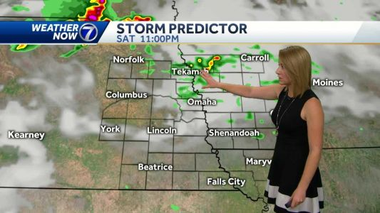 Decreasing clouds Saturday, strong storms are possible overnight
