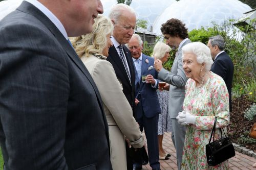 President Biden, first lady greeted by Queen Elizabeth for tea at Windsor