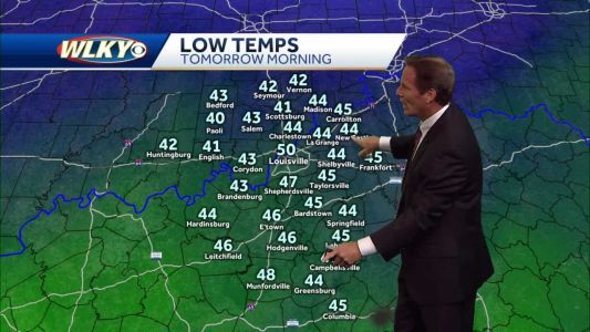Chilly temps arrive tonight