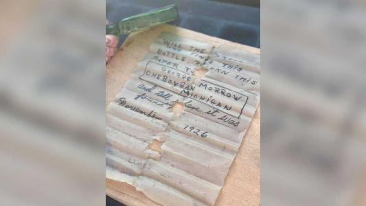 A 95-year-old message in a bottle was discovered last week. The internet found the writer's daughter
