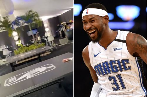 Magic's Terrence Ross shows off impressive NBA bubble players' lounge