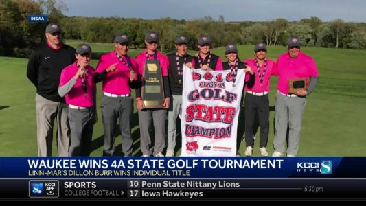 Waukee team takes home first in 4A Boys State Golf Tournament