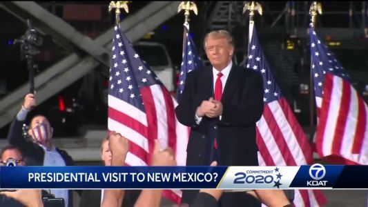 Could President Trump come to New Mexico for a rally under the public health order?