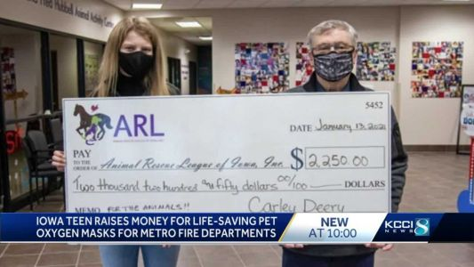 Iowa teen raises $2,000 to provide life-saving devices for pets to fire departments