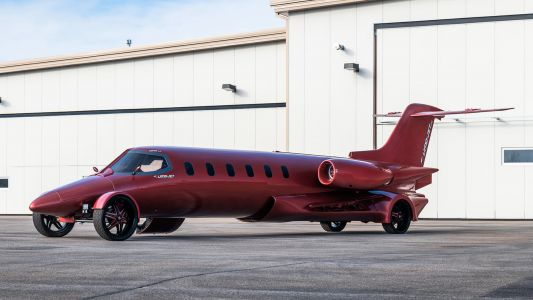 The absurd 'Learmousine' is half private jet and half stretch limo, and it's for sale - see inside