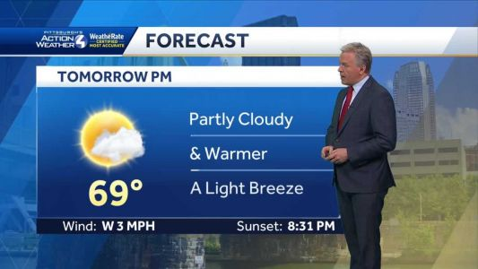 Mostly sunny on Saturday, warmer temps on the way