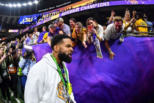Odell Beckham banned by LSU after title game cash stunt