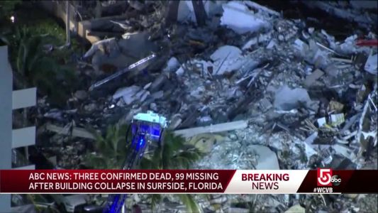 3 dead, 99 unaccounted for after building collapse in Florida