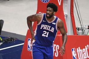 76ers' Embiid sits out Game 5 with meniscus tear in knee