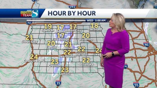 Next chance for snow arrives Tuesday into Wednesday