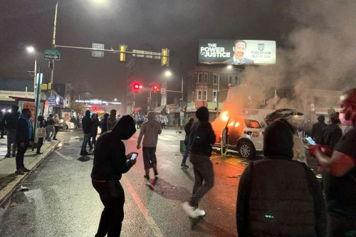 Philadelphia cop hit by truck amid protests over police shooting