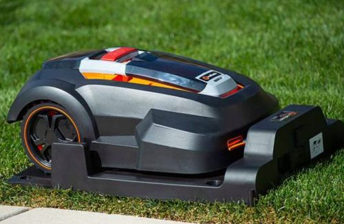Let this robot lawn mower cut the grass for you this summer