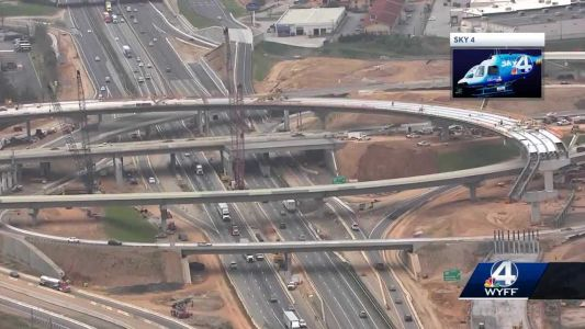 You'll want to pay extra attention to signage around the I-385/I-85 interchange this weekend