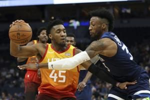 Mitchell, Jazz hand Wolves 6th straight loss, 127-116