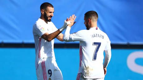 'About time!': Eden Hazard ends ONE-YEAR Real Madrid goal drought with 25-yard stunner against Huesca