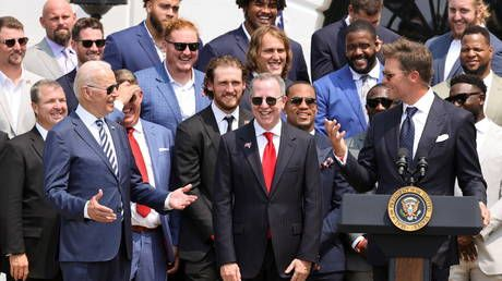 Brady cracks gags at White House love-in with Biden as Liberals gleefully claim Trump will be 'furious' with NFL pal