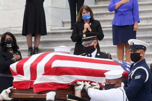 Watch RBG's personal trainer pay tribute to the late Supreme Court justice by doing push-ups during her memorial service at the Capitol