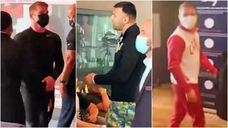 'You are a f*cking p*ssy': Boxing great Canelo hits back at Billy Joe Saunders' mob in hotel flashpoints over size of ring