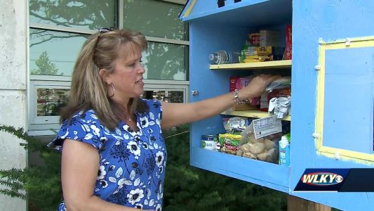 Louisville woman opens new Little Free Pantry in memory of lost stepmother