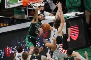 Late Tatum drive ices Celtics win over Wizards, 111-110