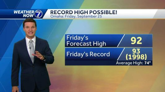 Beautiful fall evening, record heat possible Friday