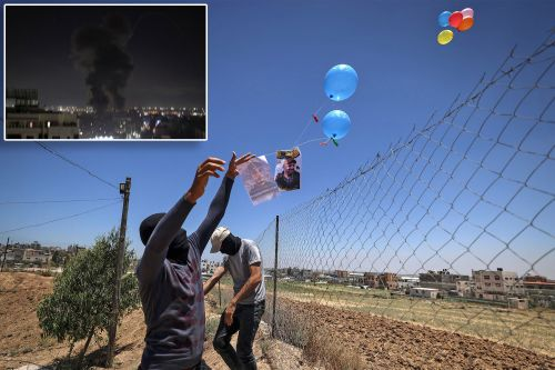 Israel launches airstrikes at Gaza Strip after militants fire arson balloons