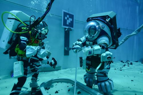 Astronauts are testing NASA's new spacesuits underwater as the agency pushes toward the next moon landing