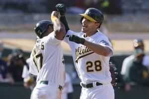 Luzardo follows Manaea's stellar start, A's beat Twins twice