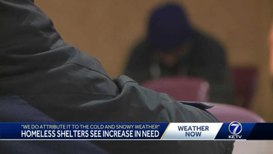 'We do attribute it to the cold and snowy weather': Homeless shelter sees increase in need