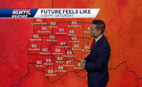 Heat and humidity moves back in