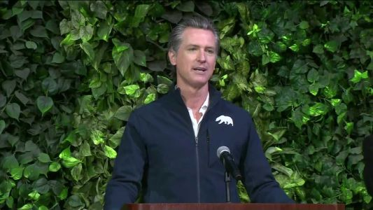 Gov. Newsom holds COVID-19 briefing in Central Valley