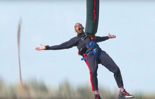 Will Smith celebrated his 50th birthday by bungee jumping out of a helicopter over the Grand Canyon - and his message afterwards was pretty inspiring