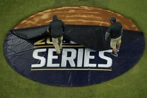 The Latest: Ballpark roof closed for World Series Game 3