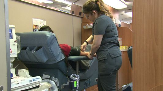 Mobile blood drive takes extra steps to social distance