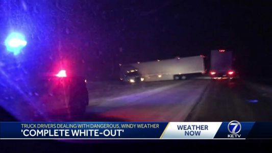 Blizzard forces truckers off the roads
