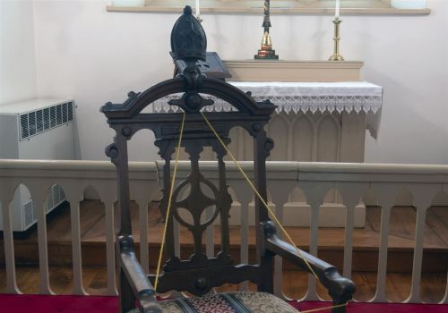 After 53 years, bishop's chair returns to historic church
