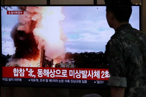 North Korea fires 2 suspected ballistic missiles after joint military drills end