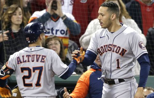 Astros batter Red Sox with seven-run ninth to even ALCS