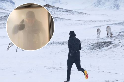 Runner completes first ice chamber marathon in minus 22°F