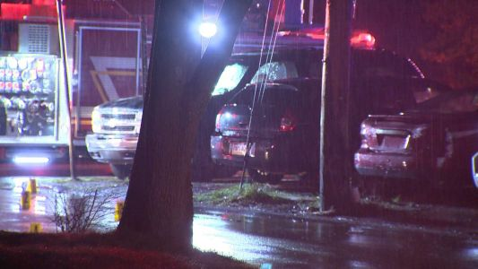 Man in critical condition after shooting, veering off road into house