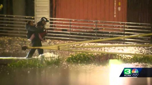 Sacramento crews rescue people trapped by fast-rising water amid Sunday storm