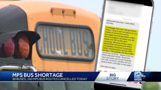 MPS bus routes canceled on first day back to in-person learning