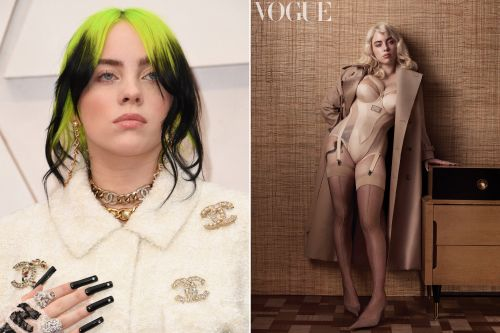Billie Eilish to fans of her sexy British Vogue shoot: 'I'm not this now'