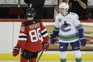 Hughes beats Hughes as Devils top Canucks 1-0