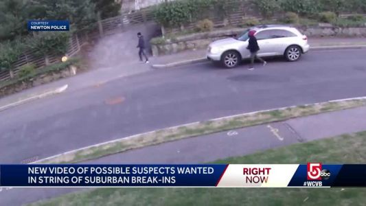 Police release new video in string of house breaks