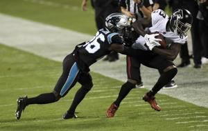 Falcons WR Ridley suffers left ankle injury against Panthers