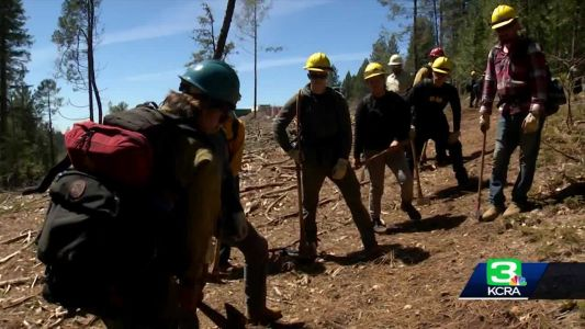 Veterans being trained to fight wildland fires