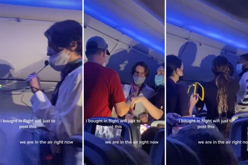 Airplane 'Karen' goes viral for mid-flight, microphoned pandemic rant