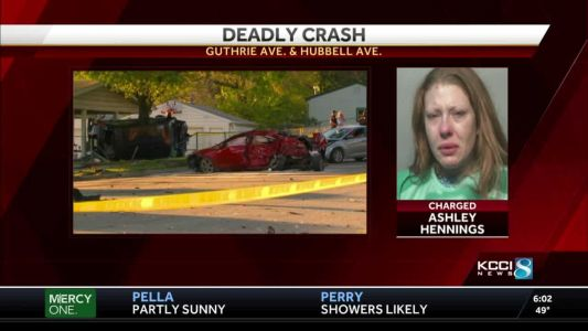 Des Moines woman faces multiple charges in deadly 3-vehicle crash
